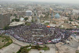rally in Baghdad
