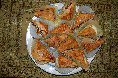 Baklava from top