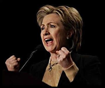 Feisty Hillary