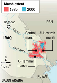 Iraq Great Salt Marsh: 1985 to 2000