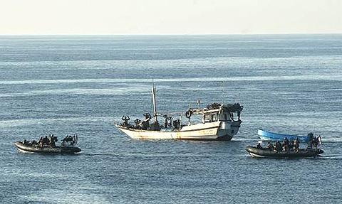 Moslem pirates surrender