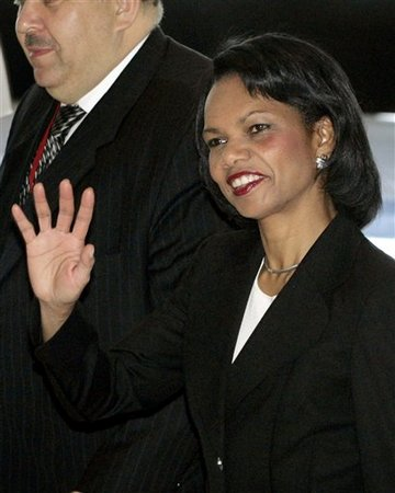 The Woman in Red and Secretary Rice